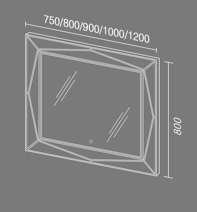 Зеркало Геометрия Схема светом Мебель для ванных комнат Sanvit Санвит