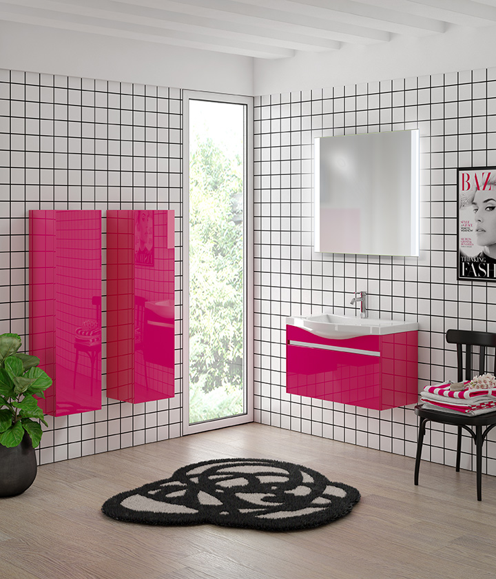 Зеркало ТИКСИ в комплекте с мебелью Малина СанВит