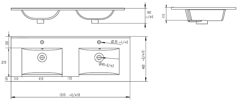 Раковина 9120 D*D СанВит схема