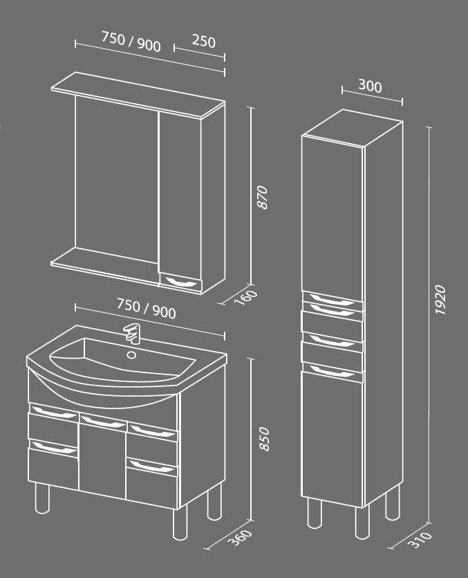 Эдем схема. Мебель для ванных комнат СанВит.