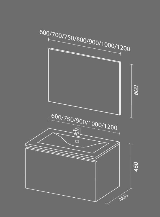 Флай схема. Мебель для ванных комнат СанВит.