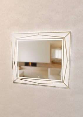 Зеркало Геометрия с включенным светом Мебель для ванных комнат Sanvit Санвит