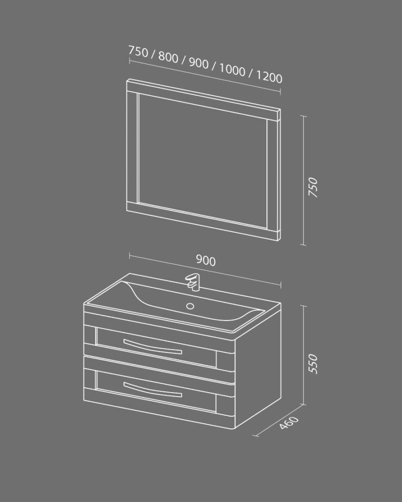 Кантри NEW Схема Мебель для ванных комнат Sanvit Санвит