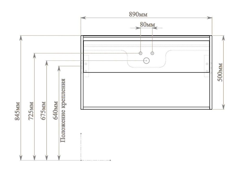 Контур 90 схема подключения Мебель для ванных комнат Sanvit Санвит