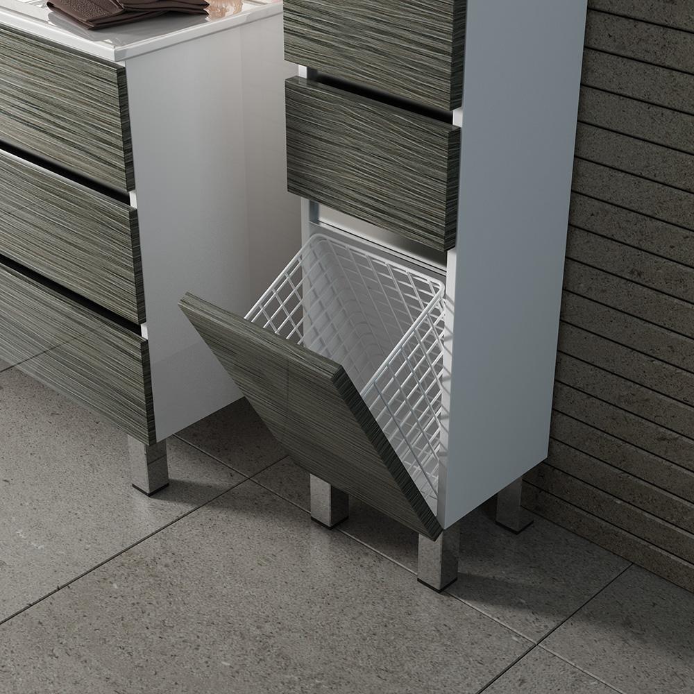 Кубэ-3 пенал Мебель для ванных комнат СанВит