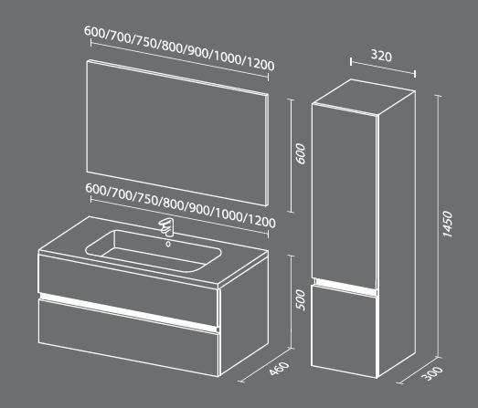 Кубэ 2 схема Мебель для ванных комнат СанВит