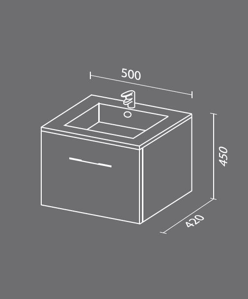 Квадро мини схема. Мебель для ванных комнат СанВит.