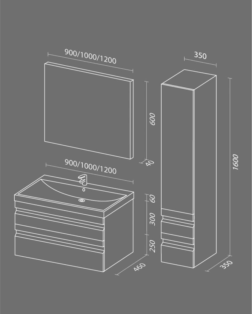 Летиция Схема Мебель для ванных комнат Sanvit Санвит