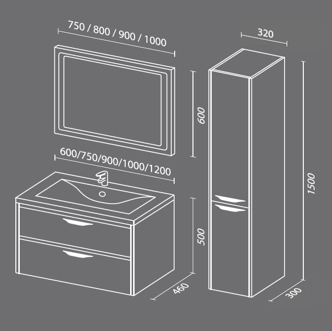 Мери 2 Мебель для ванных комнат Sanvit Санвит