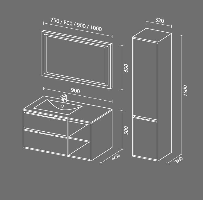Мэри 4 схема мебель для ванной комнаты СанВит