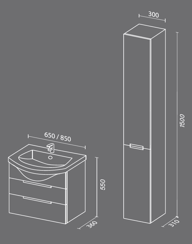 Палома схема Мебель для ванных комнат Sanvit Санвит