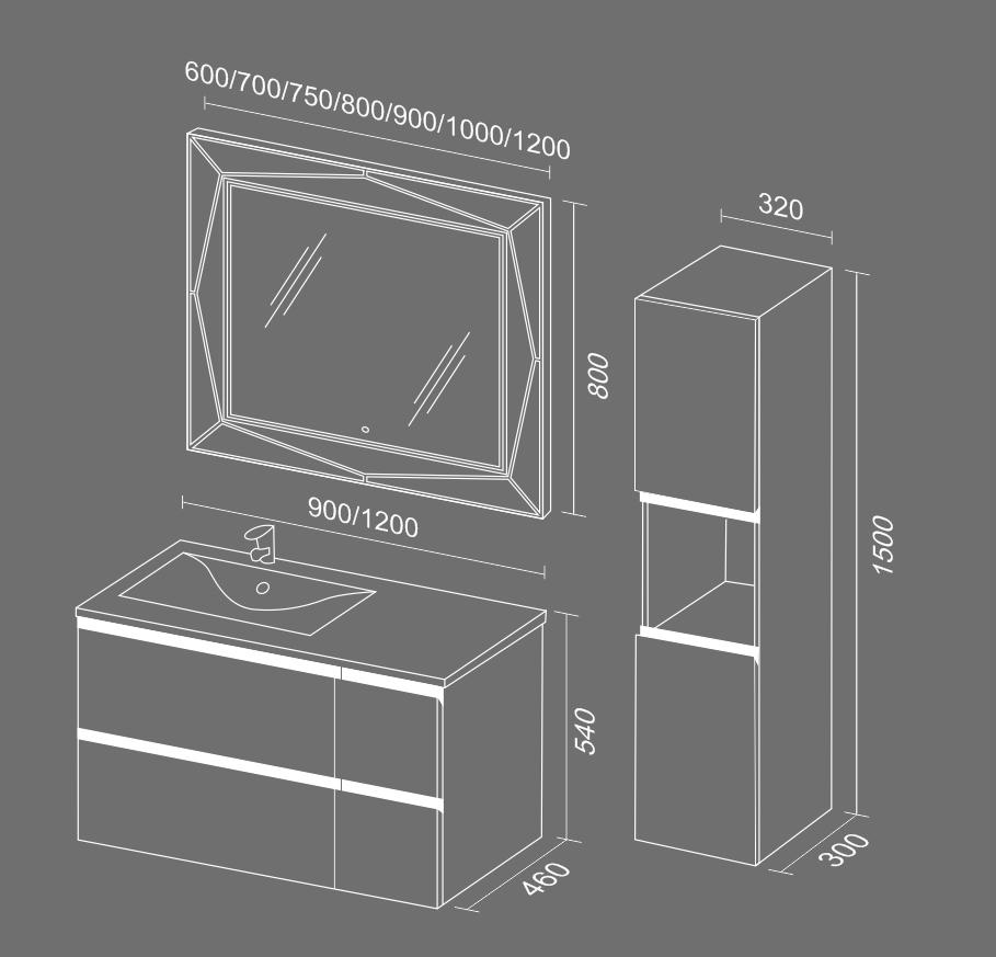 Стрит BOX схема Мебель для ванных комнат Sanvit Санвит