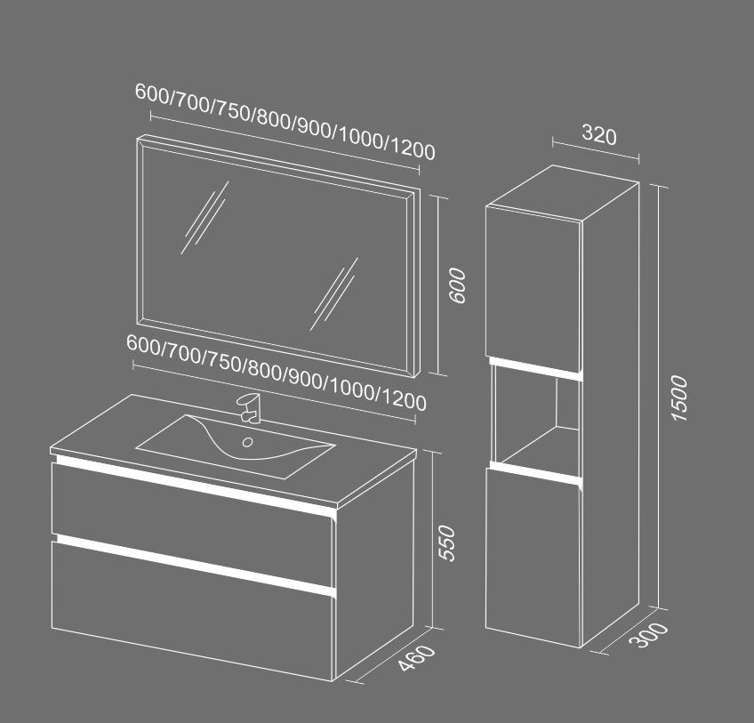 Стрит 2 схема Мебель для ванных комнат Sanvit Санвит
