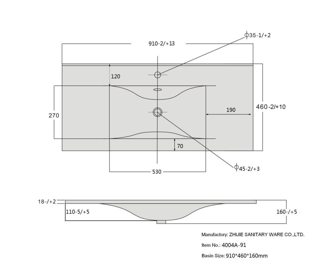 Раковина 9090 D SanVit схема