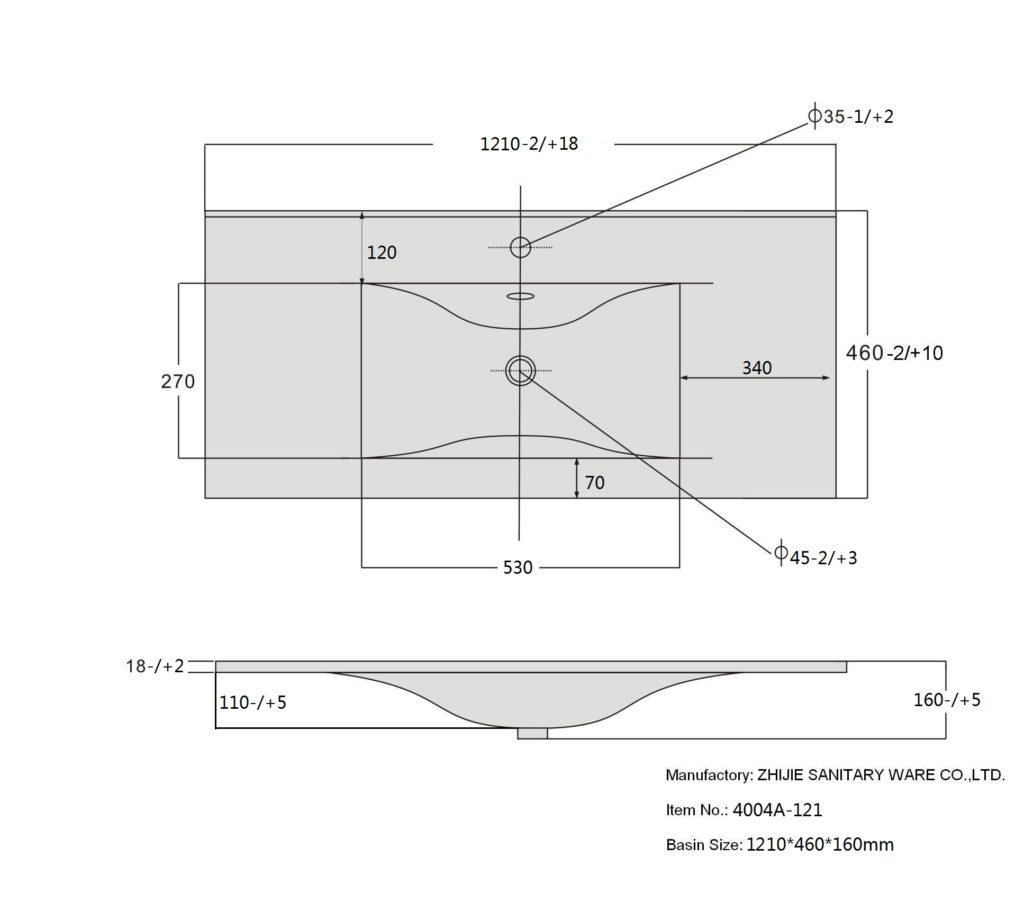 Раковина 9120 D СанВит схема