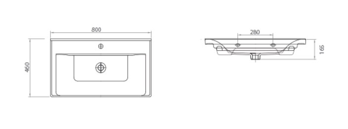 Раковина SAVA 2080 Мебель для ванных комнат СанВит