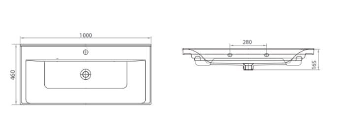 Раковина SAVA 2100 Мебель для ванных комнат СанВит