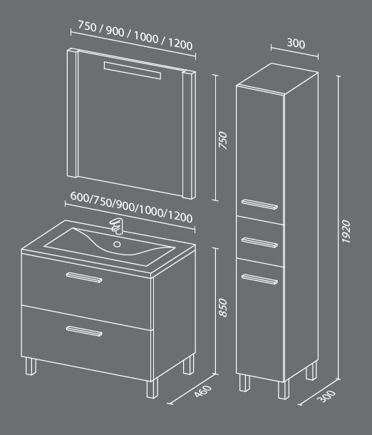 Сольвейг схема Мебель для ванных комнат СанВит