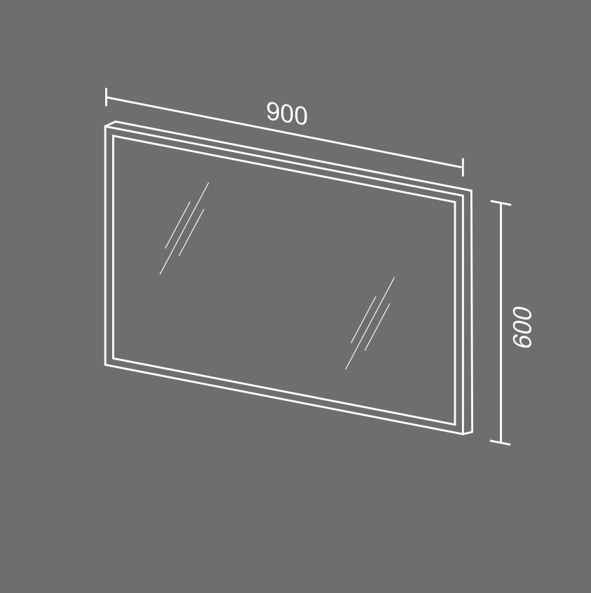 Зеркало СИЛЬВЕР схема Мебель для ванных комнат Sanvit Санвит